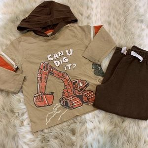 Boys 4T Set Hoodie Top with Sweat Pants